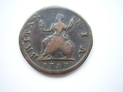 1737 George 11 Farthing, Good Readable Condition