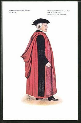 AK Oxford Univerity Robes, Doctor of Civil Law or Medicine, Convocation Dress,