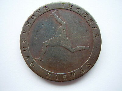1813 George 111 Isle Of Man Penny, Good Readable Condition
