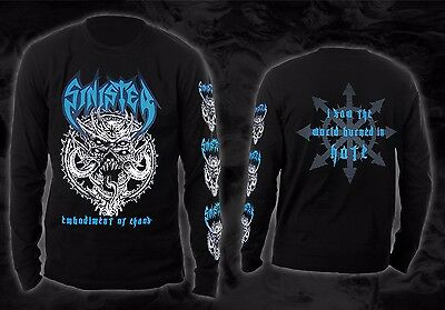 Sinister - embodiment of chaos (Longsleeve Shirt), Größe M, size medium, NEW