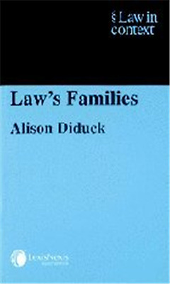 Law's Families (Law in Context) - Paperback NEW Diduck, Alison 2003-07-01