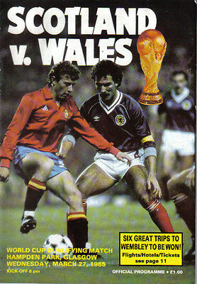 1985  SCOTLAND  v  WALES..   (WORLD CUP QUALIFIER)
