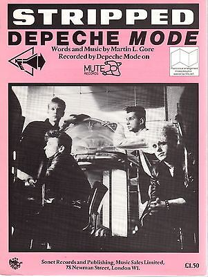 DEPECHE MODE Stripped Sheet Music 1986