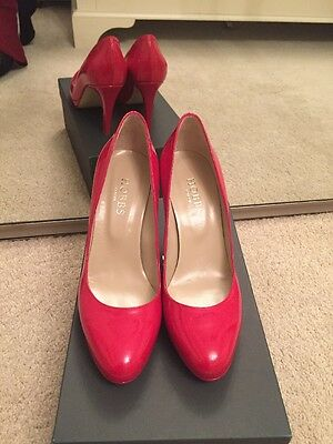 Hobbs Red Patent Leather High Heel Stiletto Shoes Size UK 4 EU 37 BNWB RRP £149