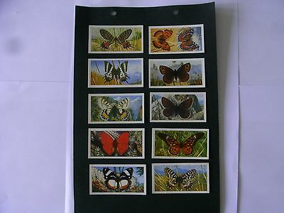 Full Set x 50 Tea Cards Brooke Bond.  Butterflies of the World.  1964.