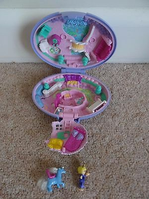 Polly Pocket, With Unicorn  and Figure Purple Compact Vintage