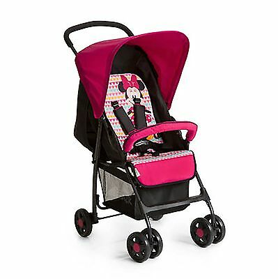 Hauck Minnie Geo Pink Lightweight Baby Sport Pushchair Stroller From Birth