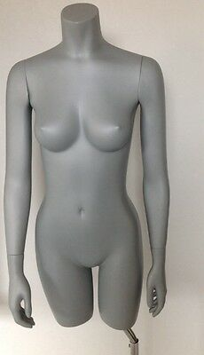 Heavy Female Shop Mannequin Torso Retail On Metal Stand