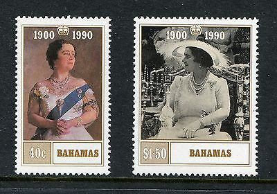 1990 BAHAMAS MNH SG 880-881 QUEEN MOTHER`S 90th BIRTHDAY COMMEMORATIVE STAMP SET