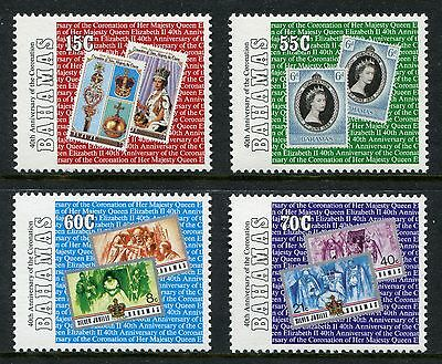 1993 BAHAMAS MNH SG 962-965 40th ANNIV. OF CORONATION COMMEMORATIVE STAMP SET