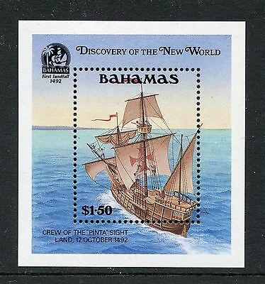 1991 Bahamas Mnh Sg Ms912 Discovery Of New World Miniature Sheet