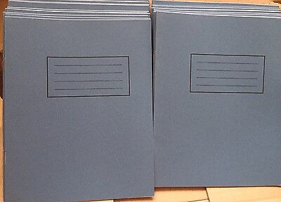 20 School Exercise Books 15cm Ruled Half Page Plain 203 X 165 mm Blue Cover YPO