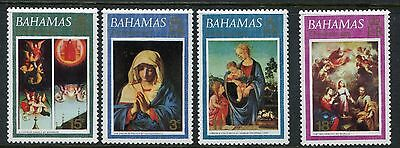 1973 Bahamas Mnh Sg 417-420 Christmas Commemorative Stamp Set