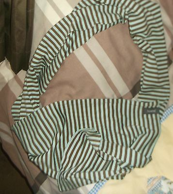 Mens Unisex Mint &brown Stripes Howies Scarf 100% Merino Wool