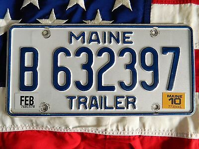 MAINE license licence plate plates USA NUMBER AMERICAN REGISTRATION