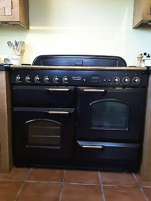 Rangemaster Classic Dual Fuel Range Cooker 110cm Black and Brass