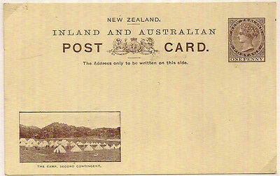 1900 NEW ZEALAND CAMP 2nd CONTINGENT PICTORIAL POSTAL STATIONERY PC QV 1d
