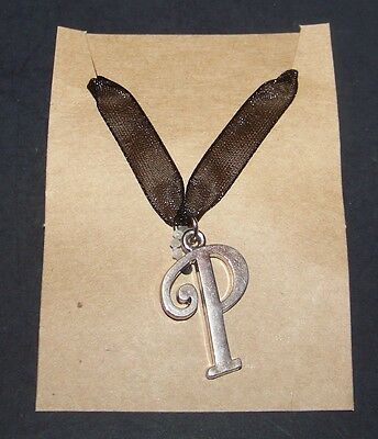 Letter P Personalized Charm Necklace Initial P Fashion Jewelry U.S.Seller Silver