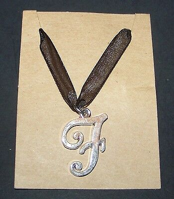 Letter F Personalized Charm Necklace Initial F