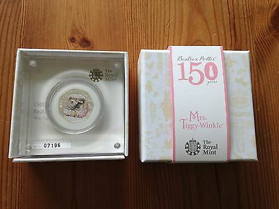 Mrs Tiggy-Winkle silver proof 50p coin ( Beatrix Potter Collection )