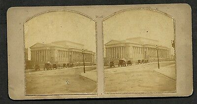 Original Early Stereoview Of Unknown London Building. ?
