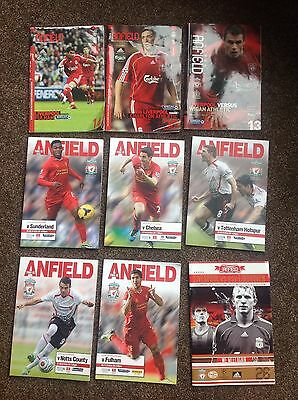 Collection Of 9 Liverpool Fc Football Programmes: 2013/14 & 05-07
