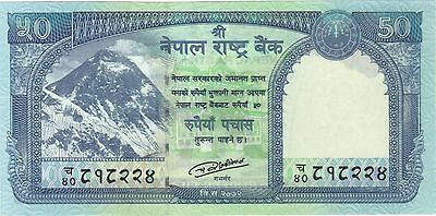 2015 50 Rupees Nepal Currency Gem Unc Banknote Note Money Bill Cash Snow Leopard