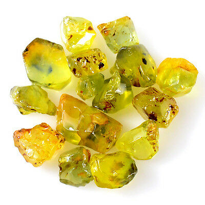 UNHEATED! 15pcs, 19.55ct NATURAL100% UNHEATED YELLOW SAPPHIRE ROUGH SPECIMEN NR!