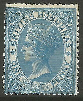 British  Honduras  Qv   Sg1  1D Blue   Mounted Mint