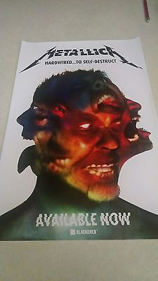 "Metallica ""Hardwired: To Self-Destruct"" MINT Cndt PROMO ONLY POSTER - L@@K"
