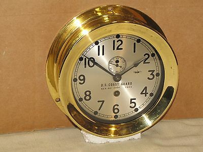 "Chelsea  Vintage Ships  Clock~6"" Dial~U.s.coast Guard~Ww2~Restored"