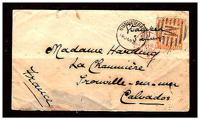 Cover From India {Bombay} To France.{Calvados} 1988. Used.  #2214