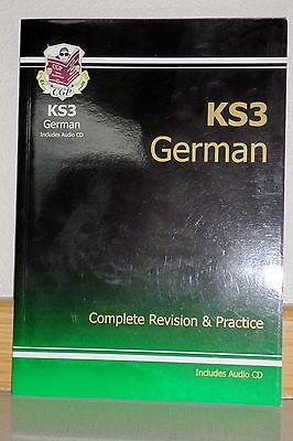 Key stage Three German, Complete Revision & Practice text book c/w audio CD