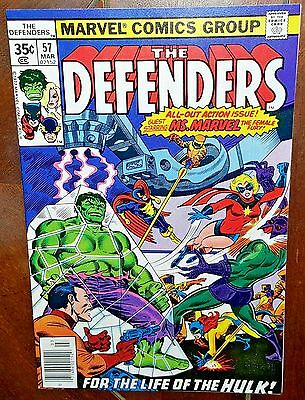 The Defenders #57, (1978, Marvel): And Along Came Ms. Marvel!