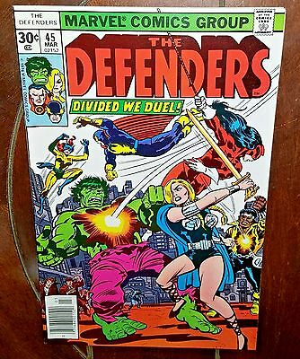 The Defenders #45, (1977, Marvel): Divided We Duel!