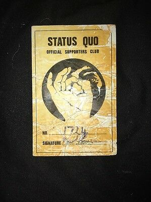 Status Quo Official Supporters Club Used