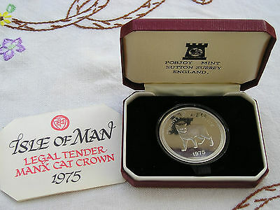 Solid Silver Isle Of Man Crown 1975