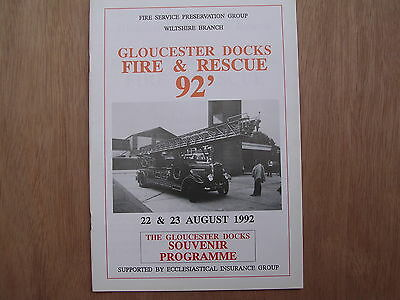 Gloucester Docks 1992 Fire & Rescue Rally Programme