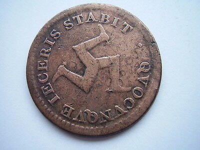 1811 Isle Of Man Bank Halfpenny, F-V/f Condition