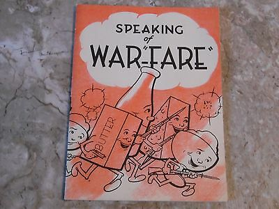 Vintage WW2 1943 Speaking o War-Fare ~ News & Recipes for Ration Foods