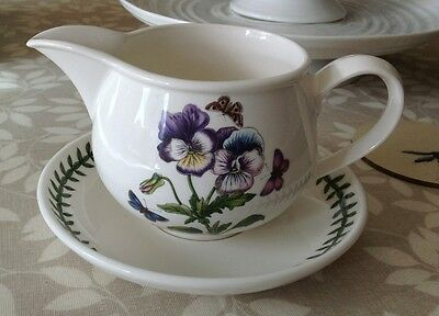 Portmeirion Botanic Garden Gravy Jug And Stand Pansy New