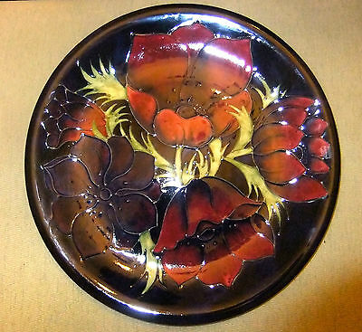 Moorcroft Rare  Large Carger  , Plaque  Signed W.m