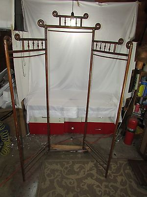 "Antique Victorian Stick & Ball Bentwood 67"" Privacy Dressing Screen~Room Divider"