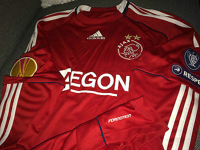 Ajax Stekelenburg match worn Europa League 10/11 shirt Holland Netherlands