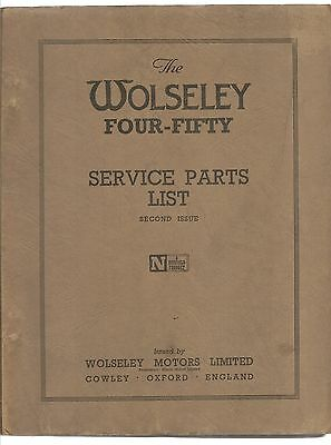 Wolseley For-Fifty Parts List 1952