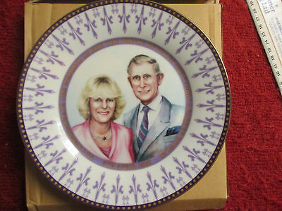 Charles & Camilla Wedding Plate April 8th 2005 Mint Condition