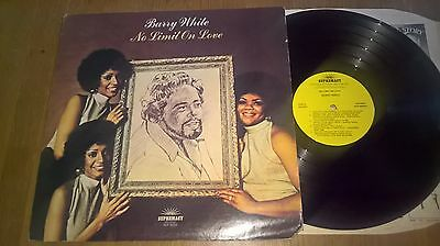 Barry White - Lp - No Limit On Love - Supremacy Records - Usa - Sup - 8002