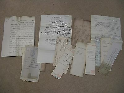 Solicitors documents for the HUSBAND family, 1905, Staffordshire, Chelsea, Natal