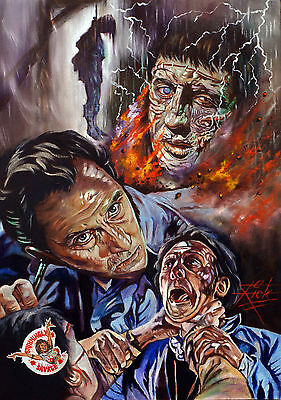 The Curse Of Frankenstein / Large Archival Giclee Fine Art Print / Rick Melton