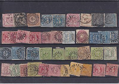 A Very Nice Lot Of Early Germany German States Stamps All Used See Photo 26*